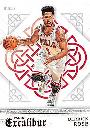 d72b0265ae06 Derrick Rose basketball card (Chicago Bulls) 2016 Panini Excalibur ...
