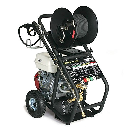 Karcher HD 3.1/31 P Cold Water Pressure Washer, Hand Truck Design, 2,400 psi, 2.5 GPM, 2.6 GPM, 2,600 psi, Black/Chrome/Gold/Red