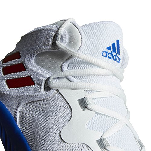 Adidas Mannen Explosieve Bounce Basketbalschoenen Wit (ftwbla / Rojpot / Reauni 000)