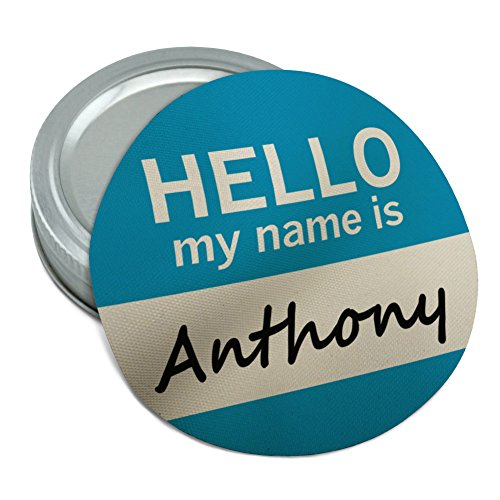Anthony Hello My Name Is Round Rubber Non-Slip Jar Gripper Lid - Anthony Hello