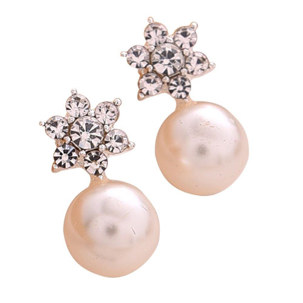 Vibola Pendant Fashion Women's Sterling Silver Snowflake Stud Earrings Jewelry