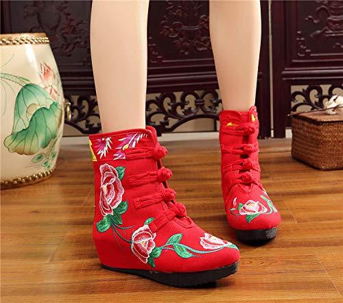 GaoXiao_ in Stiefeln Bestickte Stiefel dick und warm.