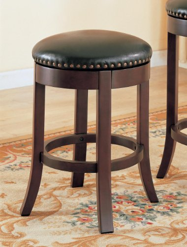 - Coaster Home Furnishings Swivel Stool w Upholstered Seat - Set of 2 (24 in. H)
