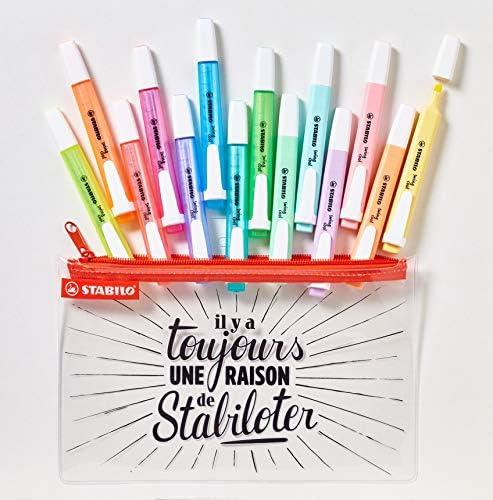 Stabilo Swing Cool - Estuche de 14 subrayadores, colores neón y ...