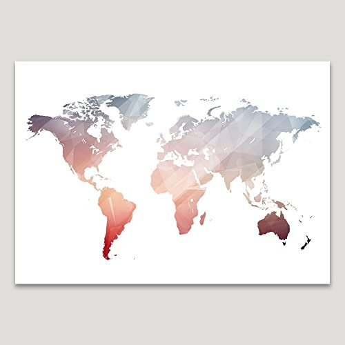 Amazon pink world map poster size 11x14 polygon geometric pink world map poster size 11x14 polygon geometric wall art alternative wedding guest gumiabroncs Images