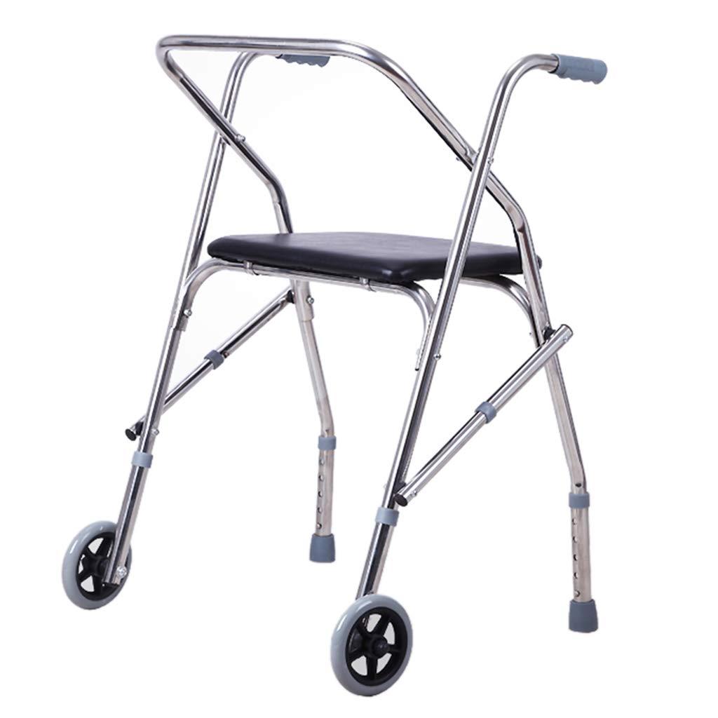 人気ショップ 歩行器 B07L9YCL1K ウォーカー 4点ケーン 調節可能なウォーキングアシスト 座席付き車輪折りたたみ式 Silver) 高齢者に適しています。 (Color 歩行器 : Silver) Silver B07L9YCL1K, 【当店一番人気】:6b960fad --- a0267596.xsph.ru
