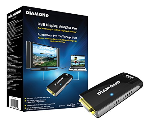 Diamond Multimedia BVU195  USB 2.0 to VGA / DVI / HDMI Video Graphics Adapter up to 2048x1152 / 1920x1080 - Windows 10, 8.1, 8, 7, XP, MAC OS and Android 5.0 and higher