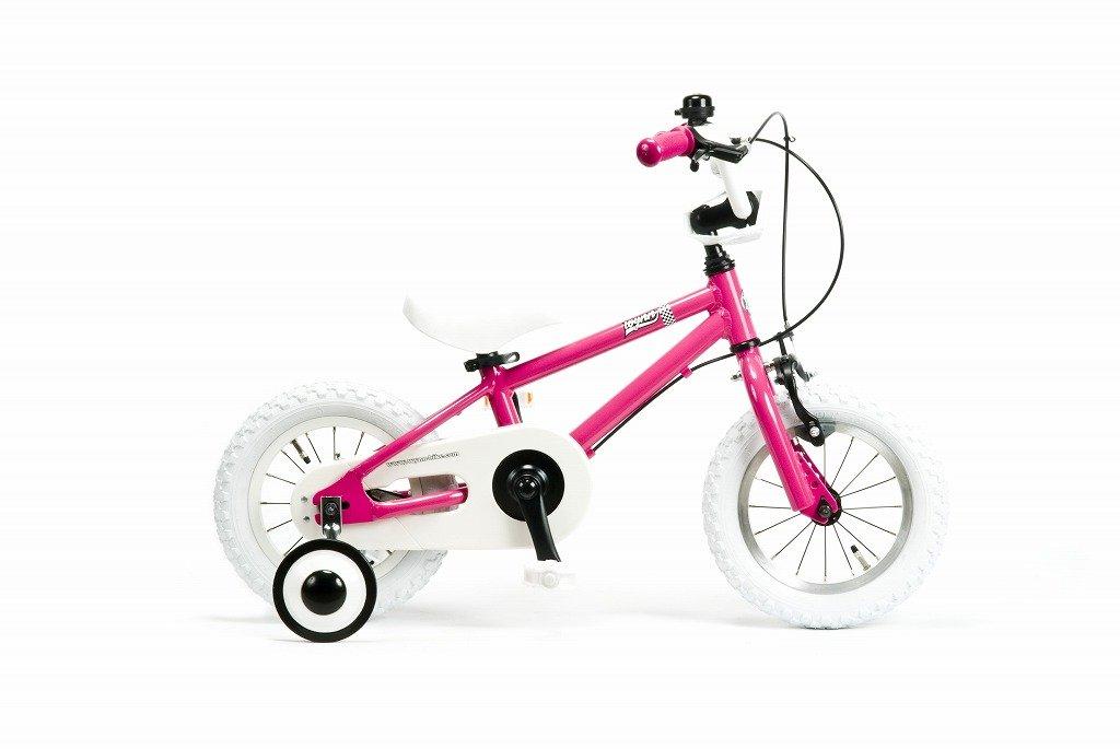 【湘南鵠沼海岸発信】12インチBMX 《RAINBOW Wynn12 12inch》 子供用自転車 12インチ B01MRQB2YO ピンク×ホワイト ピンク×ホワイト