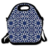 IMISS Lunch Tote, Islamic Geometric Lunch boxes Lunch bags Waterproof Picnic Lunch Bag Mom Bag