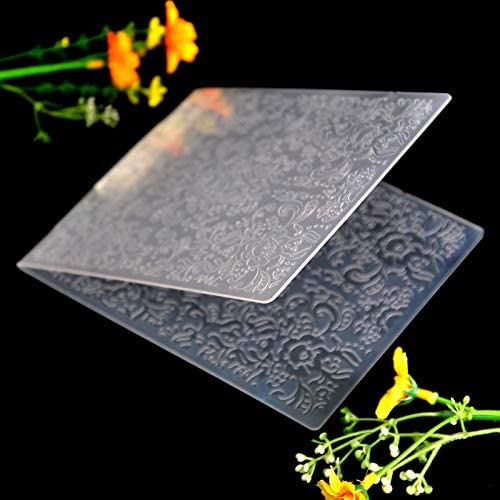 Kwan Crafts Flowers Plastic Embossing Folders for Card Making Scrapbooking and Other Paper Crafts,12x15.2cm