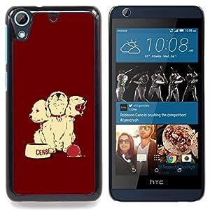 "Qstar Arte & diseño plástico duro Fundas Cover Cubre Hard Case Cover para HTC Desire 626 (Perro de perrito lindo"")"