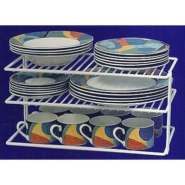 Grayline 40126, Large Two Shelf Organizer, White