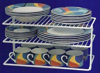 Grayline 40126, Large Two Shelf Organizer, White (Kitchen Cabinet Organizer Plates compare prices)