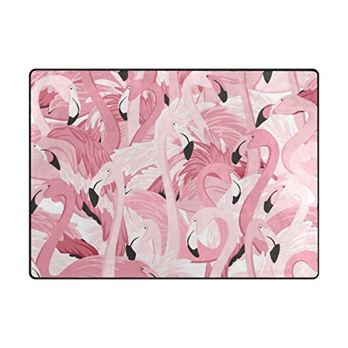 My Daily Pink Flamingos Tropical Area Rug 4' x 5'3