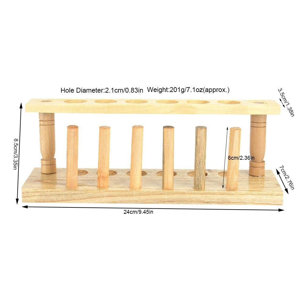 Wooden Test Tube Rack 6//8//10//12 Hole Test Tube Holder Chemical Laboratory Tool 10 Holes