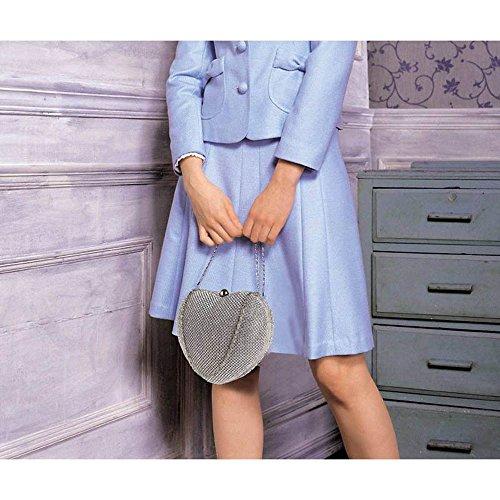 TrendStar - Cartera de mano para mujer S Silver Clutch