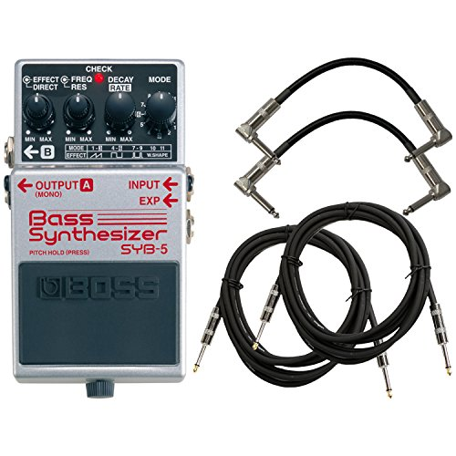 BOSS SYB-5 Bass Synthesizer Pedal Bundle w/4 Free Cables by BOSS