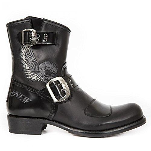 New Rock Boots M.gy33-r2 Urban Biker Rock Herren Stiefel Schwarz