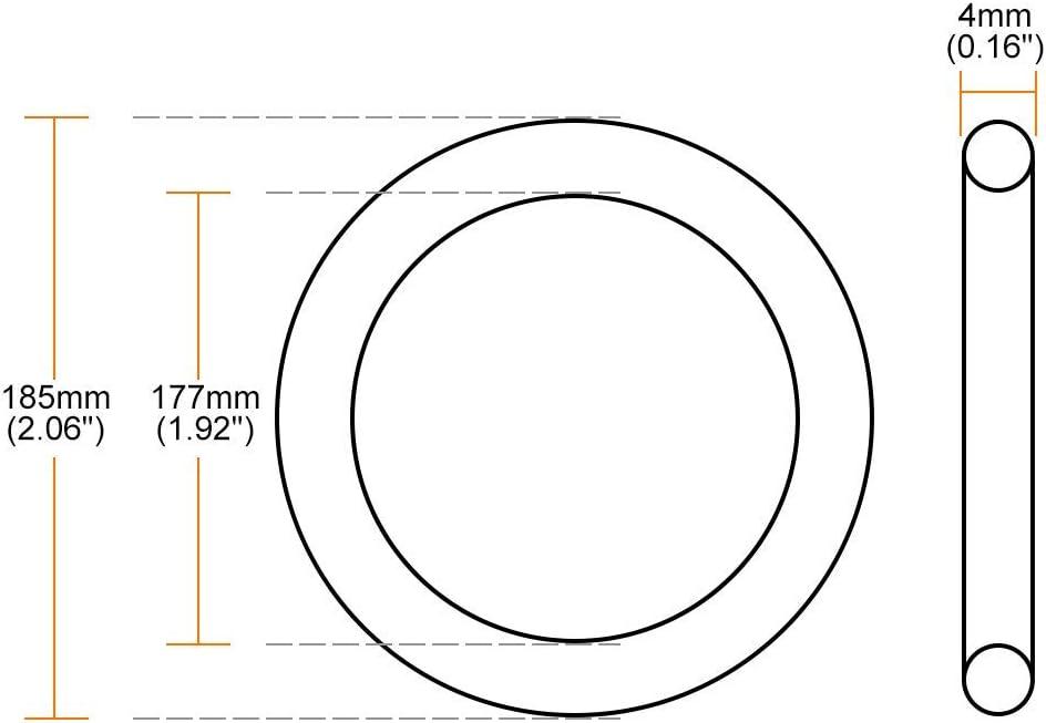 Nitril O-Ring 177mm Innendurchmesser 185mm Au/ßendurchmesser 4mm Breite Dichtungsring Rund