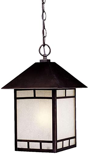 Acclaim 9026ABZ Artisan Collection 1-Light Outdoor Light Fixture Hanging Lantern, Architectural Bronze