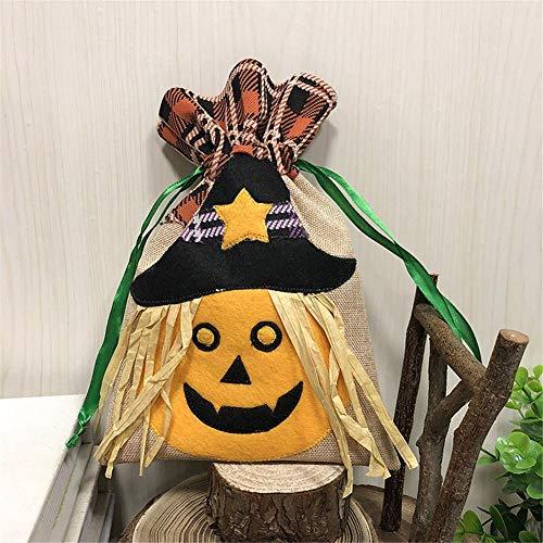Feileng Halloween Decoration Props Toys Dressing Up Accessories Children's Portable Pumpkin Shaped Bag Gift Bag Candy Cloth Bag -