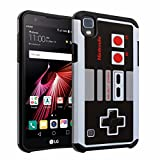 Cheap LG X Power Case, DURARMOR [ Drop Protection] Vintage Nintendo NES Game Controller Dual Layer Hybrid ShockProof Slim Fit Armor Defender Case Cover for LG X Power K210 / K6P NES