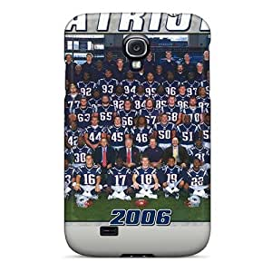 Luoxunmobile333 Premium Protective Hard Cases For Galaxy S4- Nice Design - New England Patriots