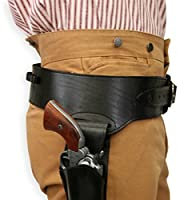 Historical Emporium Men's Right Hand Plain Leather Western Gun Belt and Holster .44/.45 Cal