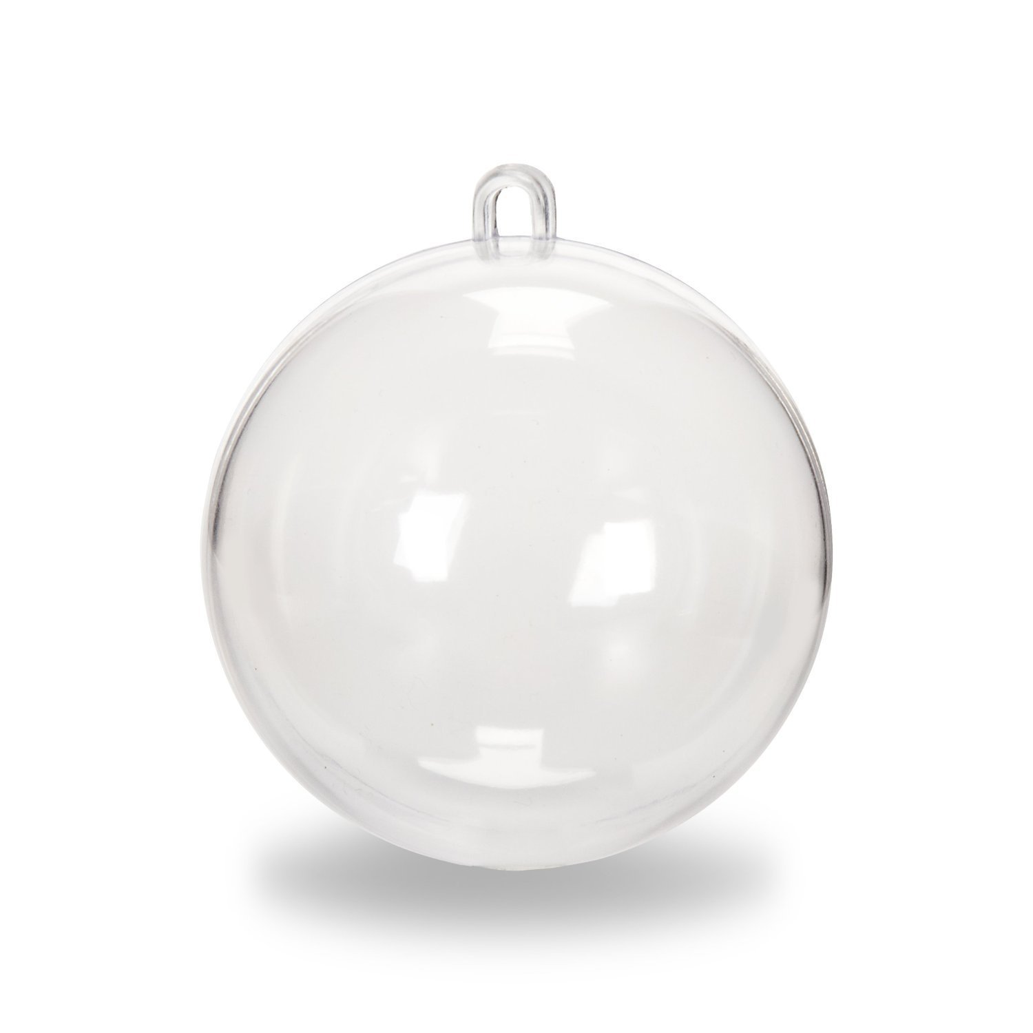 Darice Plastic Ball Oranment - 12pc - 70mm Clear