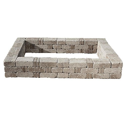 98 in. x 10.5 in. RumbleStone Large Raised Garden Bed in Greystone by Pavestone Inc.