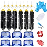 Joybros 22-Pack Replacement Parts Compatible for iRobot Roomba Accessories 600 Series 690 680 660 651 650& 500 Series 595 585 564 552 Filter Brush Roller Vacuum Cleaner Replenishment Kit