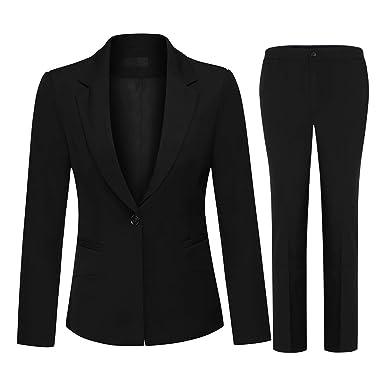 bef18cbcba1cd レディース セットアップ パンツ スーツ スリム ズボン レジャー スーツ 上下 2点セット (ジャケット + パンツ