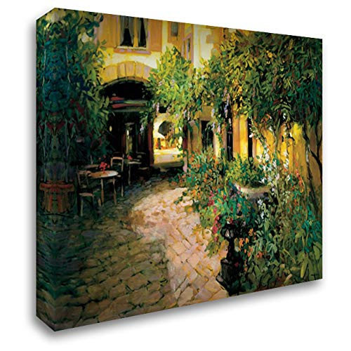 Courtyard - Alsace 53x42 Extra Large Gallery Wrapped Stretched Canvas Art by Craig, Philip