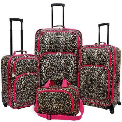 UPC 694396740031, U.S. Traveler 4 Piece Leopard Print Fashion Spinner Luggage Set