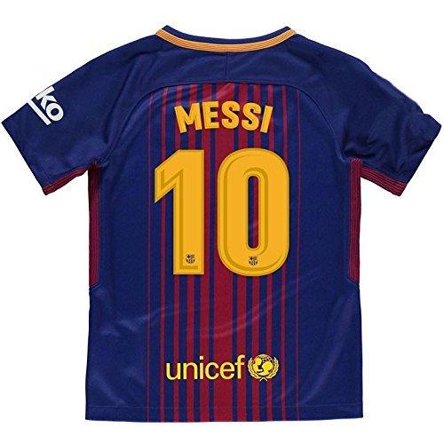 6512d41dffa21 Camiseta 1ª Equipación Replica Oficial FC BARCELONA 2017-2018 Dorsal MESSI  - Tallaje ADULTO (XXL)  Amazon.es  Deportes y aire libre
