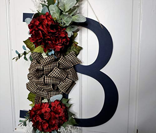 Monogram Door Hanger Wreath ()