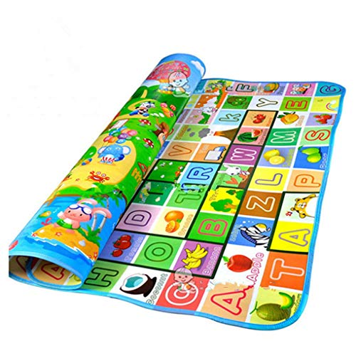 RXIN Play Mats for Baby Kid Toddler Cute Crawl Play Game Picnic Carpet Letter Alphabet Farm Mat Funny Play Mats Tapis Enfant Kid Crawl Carpet Playmat