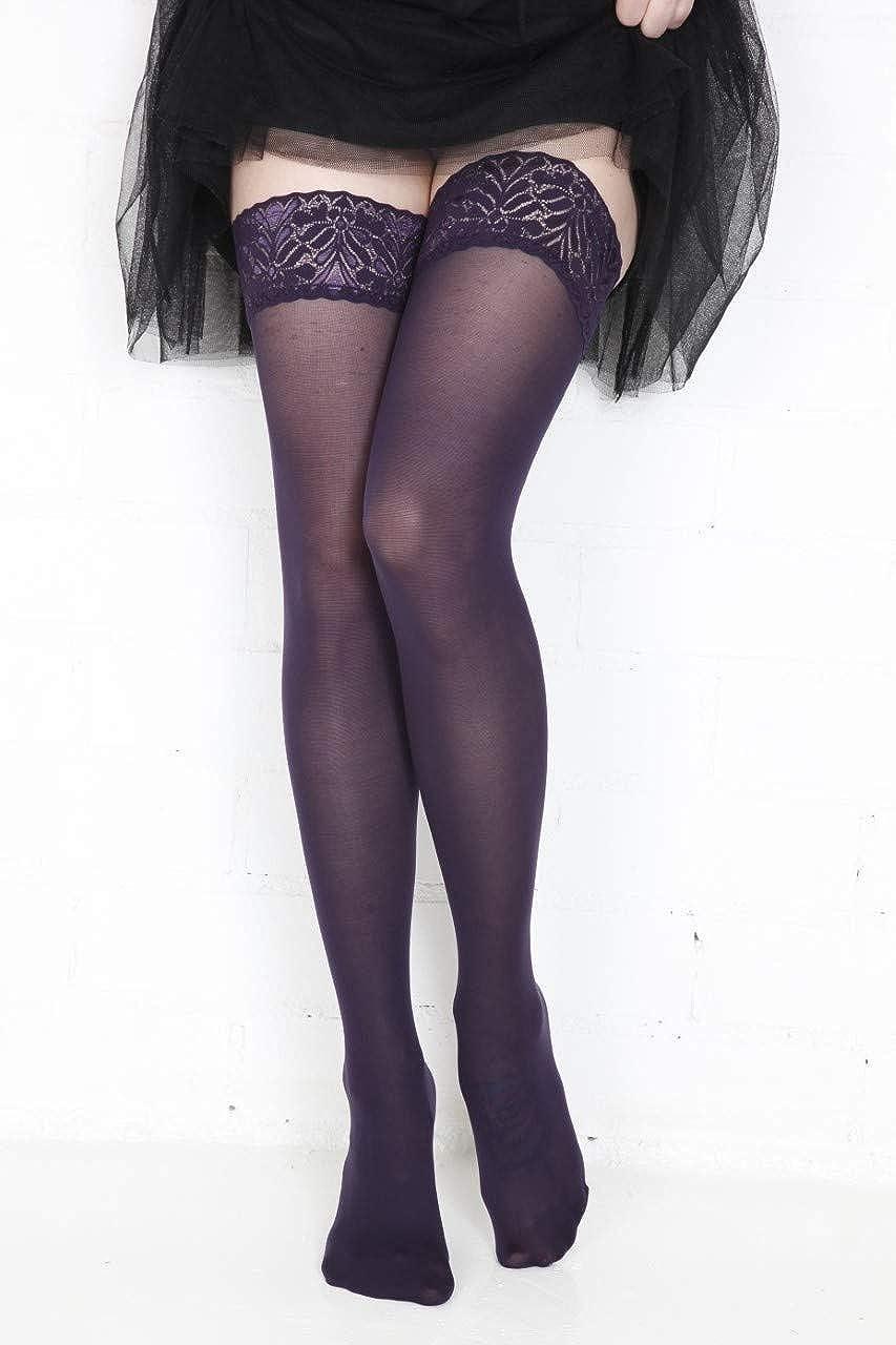 FIONA 60DEN stockings purple colour