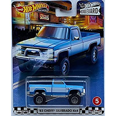 Hot Wheels 2020 Boulevard Series 83 Chevy Silverado 4x4 Real Riders: Toys & Games