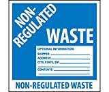 National Marker Corp. HW9AL Labels, Non Regulated Waste, 6 Inch X 6 Inch, PS Paper, 500/Roll