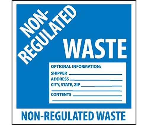 National Marker Corp. HW9SL100 Self-Laminating Labels, Non-Regulated Waste, 6 Inch X 6 Inch, PS Vinyl, Bx100 by National Marker
