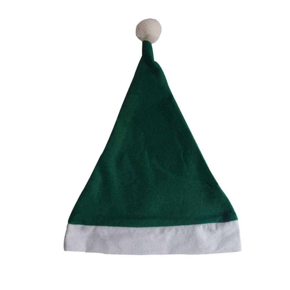 Toyvian Chapeau de No/ël Vert Bonnet de No/ël Chapeau F/ête no/ël 12pcs