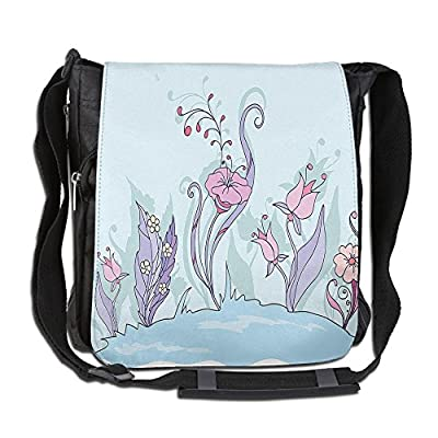 60%OFF Lovebbag Elegance Floret In Soft Pastel Tone Foliage Beauty Garden Graphic Crossbody Messenger Bag