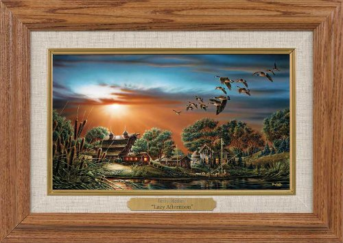 (Terry Redlin - Lazy Afternoon Collage Collection Canvas Framed Oak)