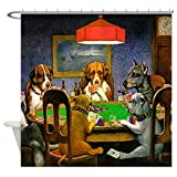 CafePress Dogs Playing Poker Decorative Fabric Shower Curtain (69''x70'')