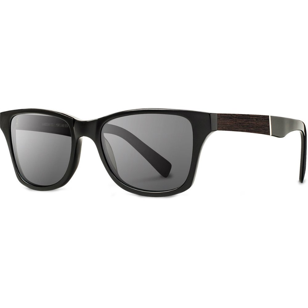 Shwood - Canby Acetate, Sustainability Meets Style, Black/Ebony, Grey Polarized Lenses by Shwood