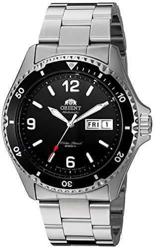 - Orient Men's FAA02001B9 Mako II Analog Automatic Hand-Winding Silver Watch