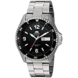 Orient Men's 'Mako II' Japanese Automatic Stainless Steel Diving Watch, Color:Silver-Toned (Model: FAA02001B9)