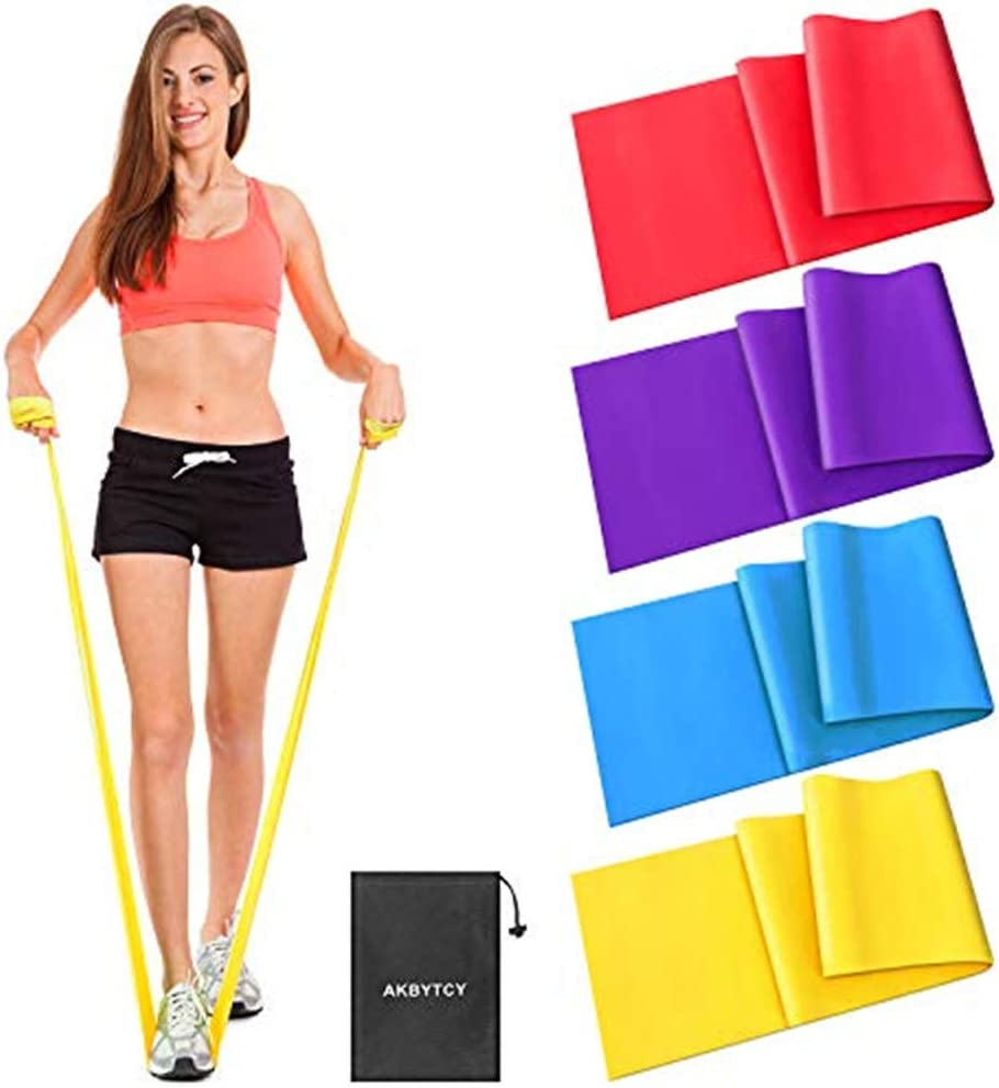Ideal for Gym AKBYTCY Skin-Friendly Fitness Exercise Bands with Different Resistance Levels for Women /& Men Legs Yoga Resistance Bands Set Training 59in Long Pilates Home Workout Strength