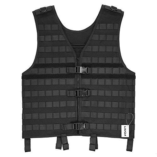 Lixada Molle Modular Vest with Hidden Mesh Hydration Pocket Outdoor Tactical Vest Modular Chest Set (Best Knife For Molle Vest)